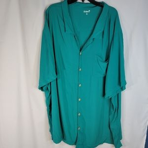 "KS Island Green ""Hawaiian "" Shirt Size 6XL"